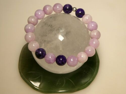 Details about  /10mm Kunzite and Charoite Stretch Bracelet 1247