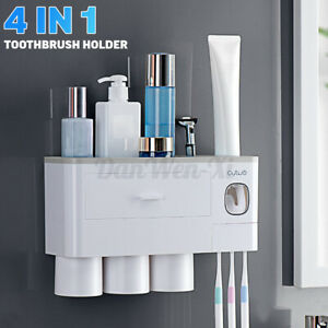 Toothbrush-Magnetic-Cup-Holder-Bathroom-Storage-Automatic-Toothpaste-Organiser