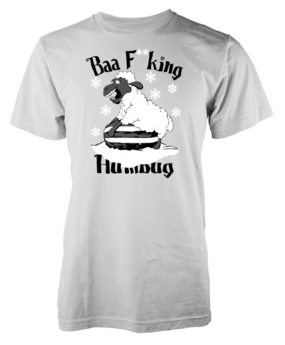 Christmas Xmas Baa F**king Humbug Sheep Secret Santa Adult T Shirt