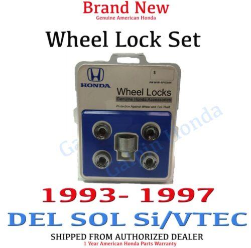 1993-1997 Honda Del Sol Si /& Vtec Roda genuíno novo conjunto de bloqueio