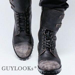 927d38909de70 Image is loading Designer-Homme-Mens-Vintage-Wash-Double-Buckle-Leather-