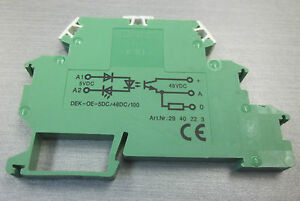 Phoenix Contact DEKOE5DC48DC100 Solidstate relay terminal block