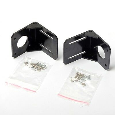 2PCS New Mounting Bracket For 42mm NEMA17 Stepper Motor Alloy Steel with Screws