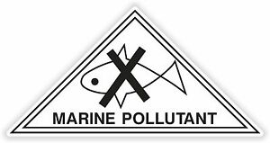 FidèLe 1 X Marine Polluant Avertissement Danger Vinyle Sticker Pour La Sécurité Poison Qualité Et Quantité AssuréE