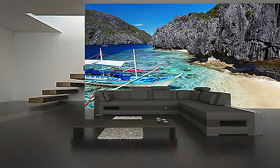 tropical beach, philippines wall mural photo wallpaper giant wall