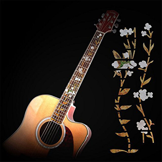 Flower Guitar Sticker Fret Fretboard Markers Decals for Electric/Acoustic Guita#