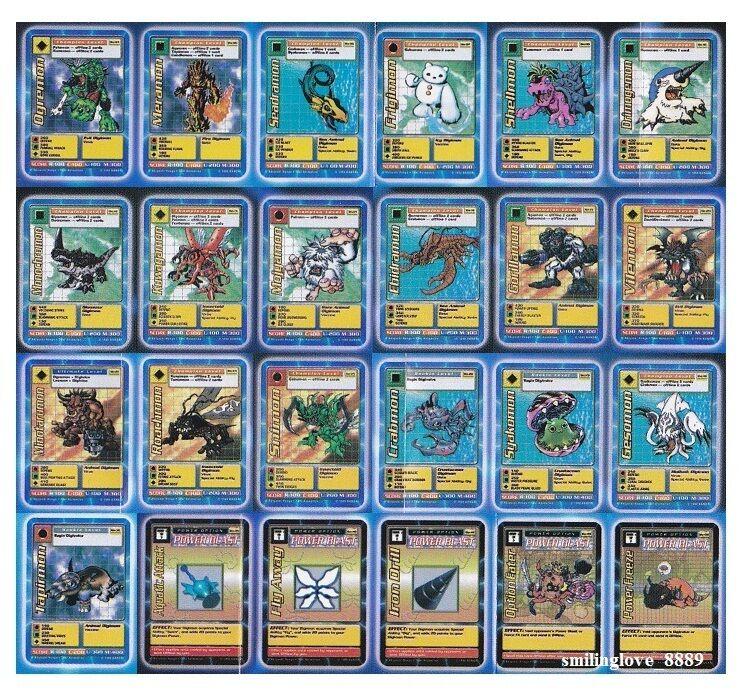 Badai Digimon digi - batle Booster serie 1 - Juegos generales de 24 tarjetas de menta