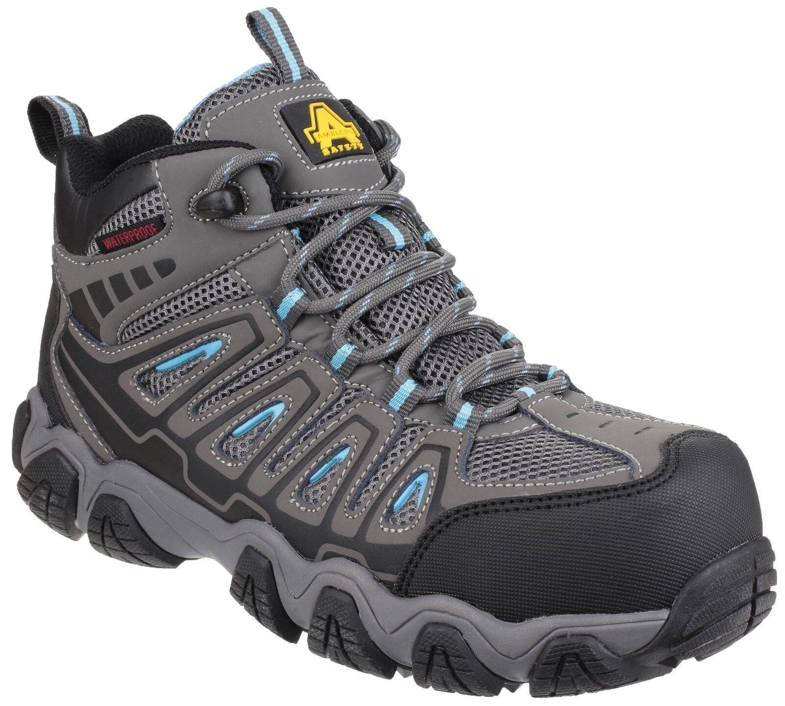 AMBLERS AS802 antinfortunistiche avvio di escursionista GRIGIO IMPERMEABILE