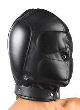 Strict Leather Padded Hood Bondage S&M Small Medium AC331-SM Torture Master REAL
