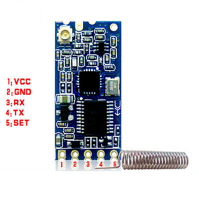 1Pcs New 433Mhz HC-12 SI4463 Wireless Serial Port Module 1000m Replace Bluetooth