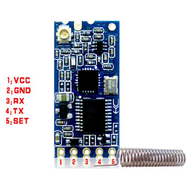 1Pcs Hot 433Mhz HC-12 SI4463 Wireless Serial Port Module 1000m Replace Bluetooth