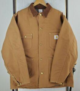 VTG CARHARTT USA Size XL 46 Tall Mens Union Blanket Lined Barn Chore Jacket