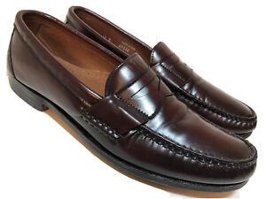 allen edmonds walden mens 10 b penny loafers dress casual