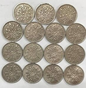 Florin-two-shillings-date-Run-Sets-from-1920-to-1967-CHOOSE-YOU-date-Run