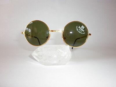 Round smaller golden BOXER sunglasses, mod. SUN   G18