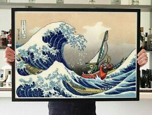 Legend of Zelda Poster Great Wave Poster Bedroom Wall Art
