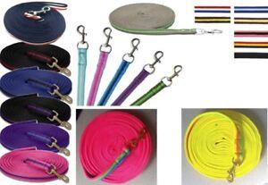 Supersoft-Rembourre-Nylon-Longe-Renes-Ligne-Cheval-longes-Corde-8-m-22-couleurs