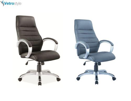 Bürostuhl Q-046 Chefsessel Stuhl Drehstuhl Grau Schwarz  Vetrostyle