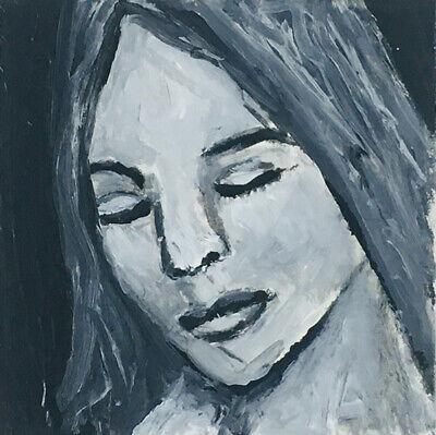 Original pintura de arte en miniatura de ooak B&W calma pacífica mujer  Katie Jeanne Madera | eBay
