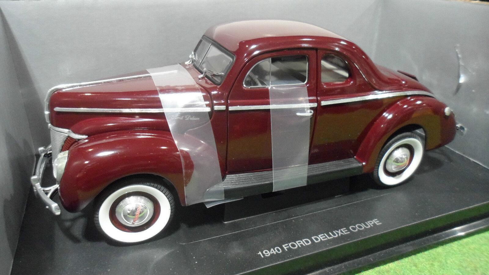 FORD  DELUXE COUPE 1940 bordeaux 1 18 UNIVERSAL HOBBIES voiture miniature collect  vente discount en ligne