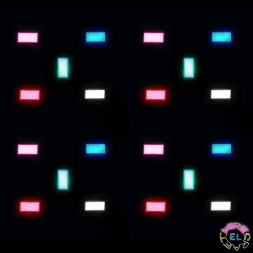 Electroluminescent Tape Glow Paper 4 pieces of 3cm x 5cm EL Panel just £9.99