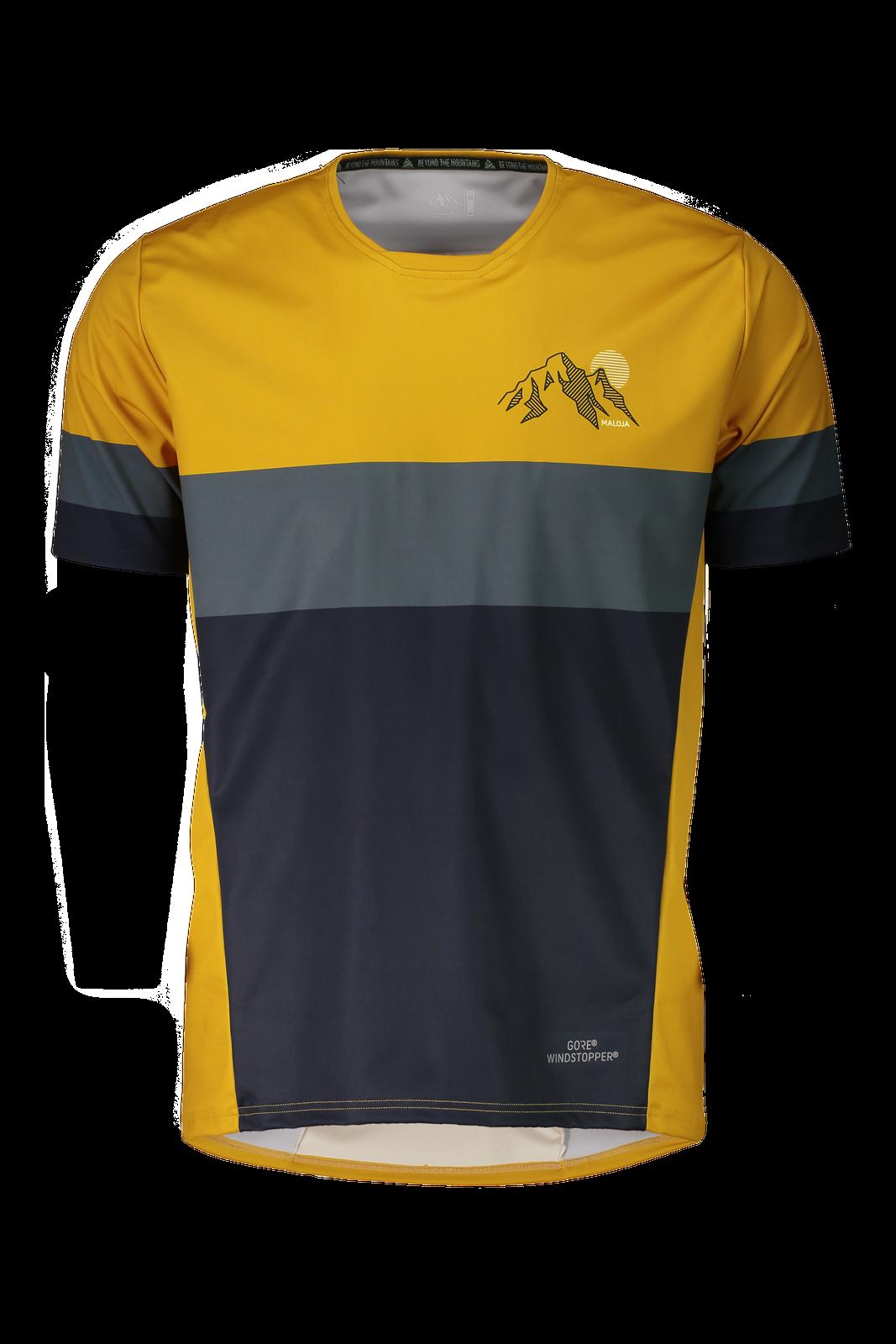 Maloja Multi Maglietta Sportiva Camicia Funzionale Giallo Reifingm. Polygiene