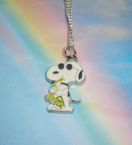 SNOOPY DOG PEANUTS WOODSTOCK CHARACTER CHARM PENDANT NECKLACE IN GIFT BAG