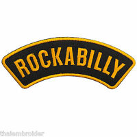 Rockabilly Rock n Roll Biker Motorcycle Pin Up Girl Tattoo Iron-On Patches #B020