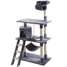 "56"" Cat Tree Tower Condo Furniture Scratching Post Pet Kitty Play House Gray"