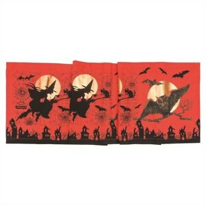 Gathered-Traditions-Joe-Spencer-Owl-Witch-Moon-Halloween-Table-Runner-72-034-x-15-034