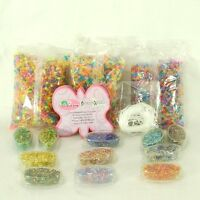 Lot Of Plastic Multi-color Beads Assorted Shapes Camp Church Crafts 16 Ounces