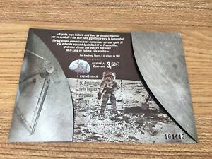 Espana-2019-estampillada-sin-montar-o-nunca-montada-Apolo-11-alunizaje-Neil-Armstrong-1v-m-s-Sellos