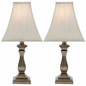 New Pair Of Cougar Lighting Armon Bedside Table Lamps