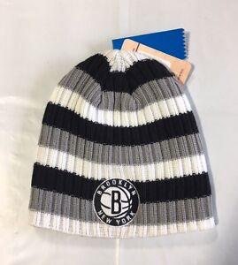 f0bf046d5 Brooklyn Nets Knit Beanie Toque Skull Cap Winter Hat NEW NBA ADIDAS ...