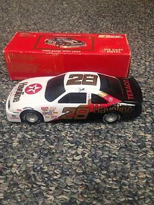 1992 Davey Allison #28 Texaco Havoline Employee Edition 1:24 Scale Car Bank Mint