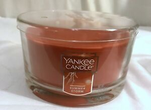 New Yankee Candle 3-Wick Summer Storm Dish Candle 17oz   eBay