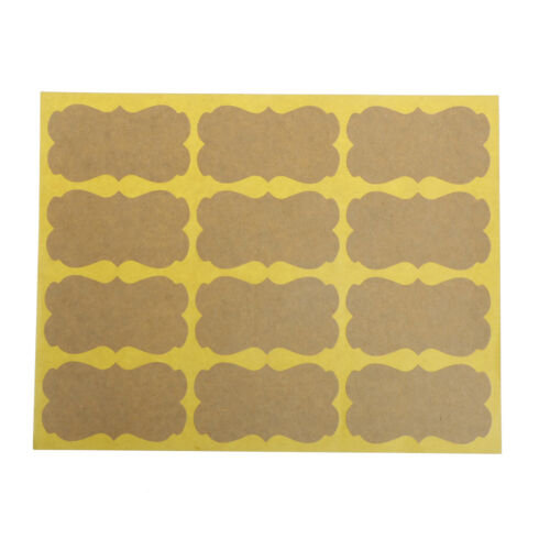 120Pcs DIY Seal Sticker Vintage Blank Kraft Label Stickers For Gift Packaging Kh