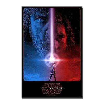 Star Wars Episode VIII The Last Jedi Movie Art Silk Poster 13/'/'x49/'/'16/'/'x60/'/'