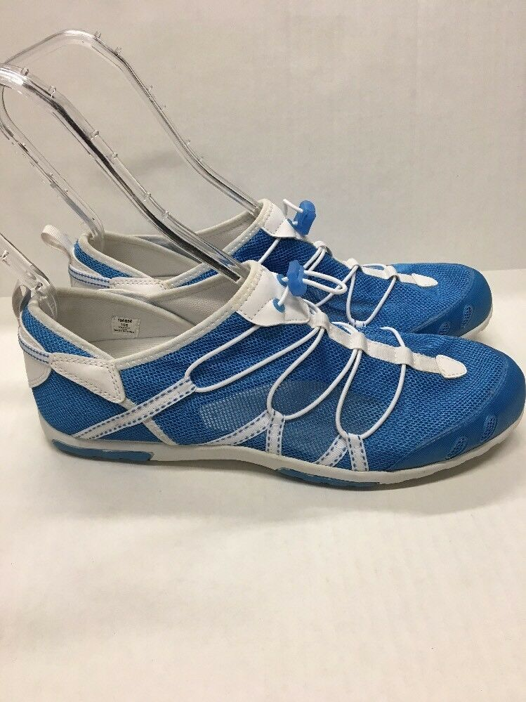 LANDS END Blue Mesh Elastic Athletic Shoes Size 10B Elastic Mesh and Toggle dd9b47