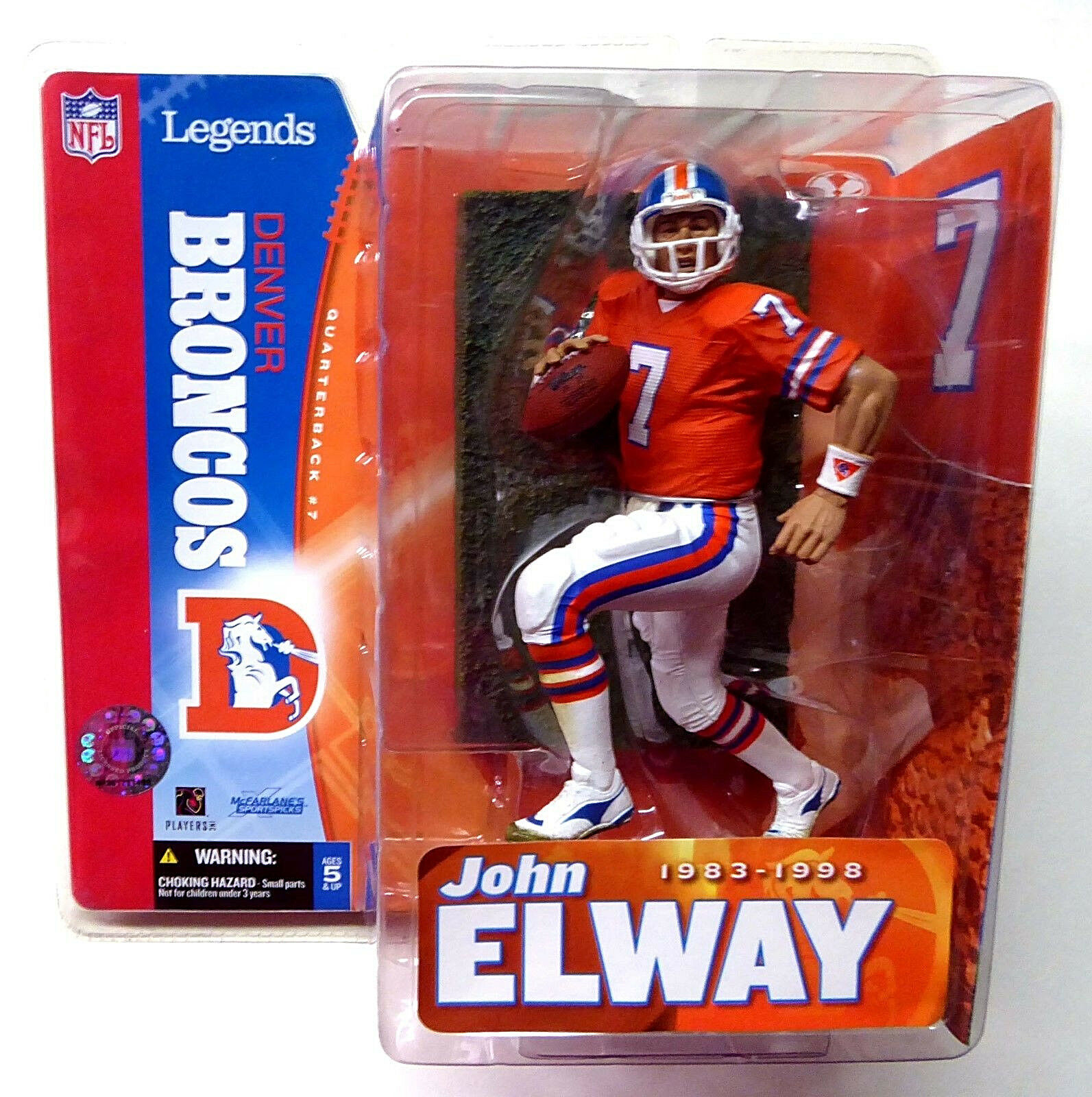 Denver Broncos John Elway NFL Legends Series 1 McFarlane Sports Nuovo 2005