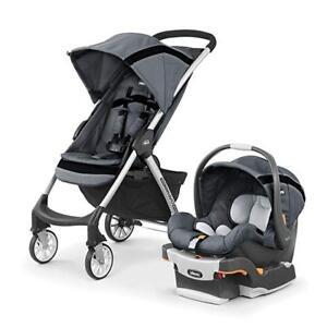 Chicco Mini Bravo Sport Travel System Keyfit Infant Car Seat W