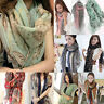 Vintage Women Lady Soft Long Neck Large Scarf Wrap Shawl Pashmina Stole Scarves
