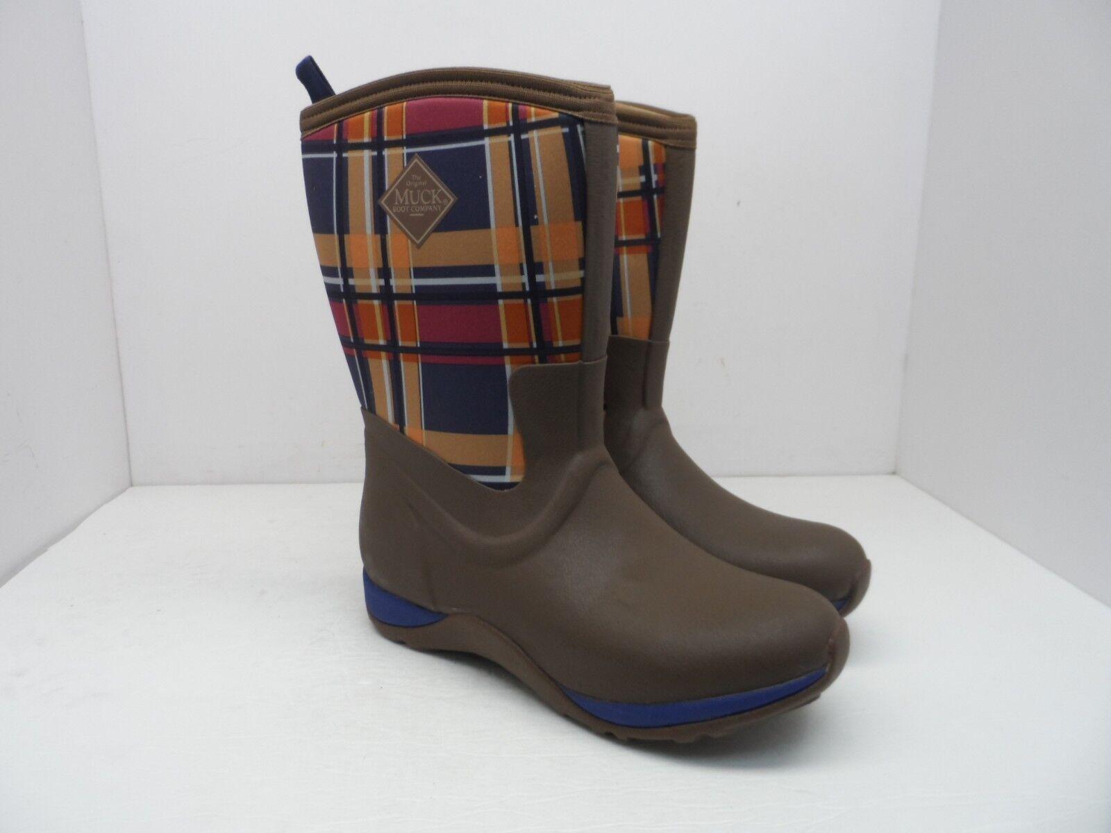 Muck botas para Mujer Ártico fin de semana botas De Invierno WAW-92PLD Marrón Azul Marino a Cuadros 5M