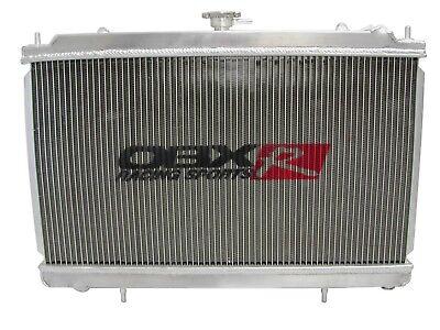 2Row Aluminum Radiator Fit For 1989-1994 Nissan 240SX S14 KA24DE 90 91 92 93+Fan
