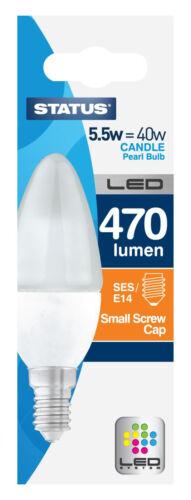 Rated LED Candle Lamp 5.5watt = 40watt SES E14 Candle Lamp A