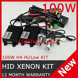 100W-AC-HID-XENON-DIGITAL-BIXENON-CONVERSION-KIT-H4-Hi-Lo-9003-HB2-Bi-xenon