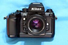 Nikon F4 SLR 35mm Film Camera Body MB20 Nikon DP-20 50mm AF Lens N.MINT!