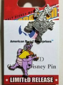 Disney-Pins-Hidden-Mickey-2019-Figment-Yellow-Turtleneck-135684-amp-Chaser-Traded