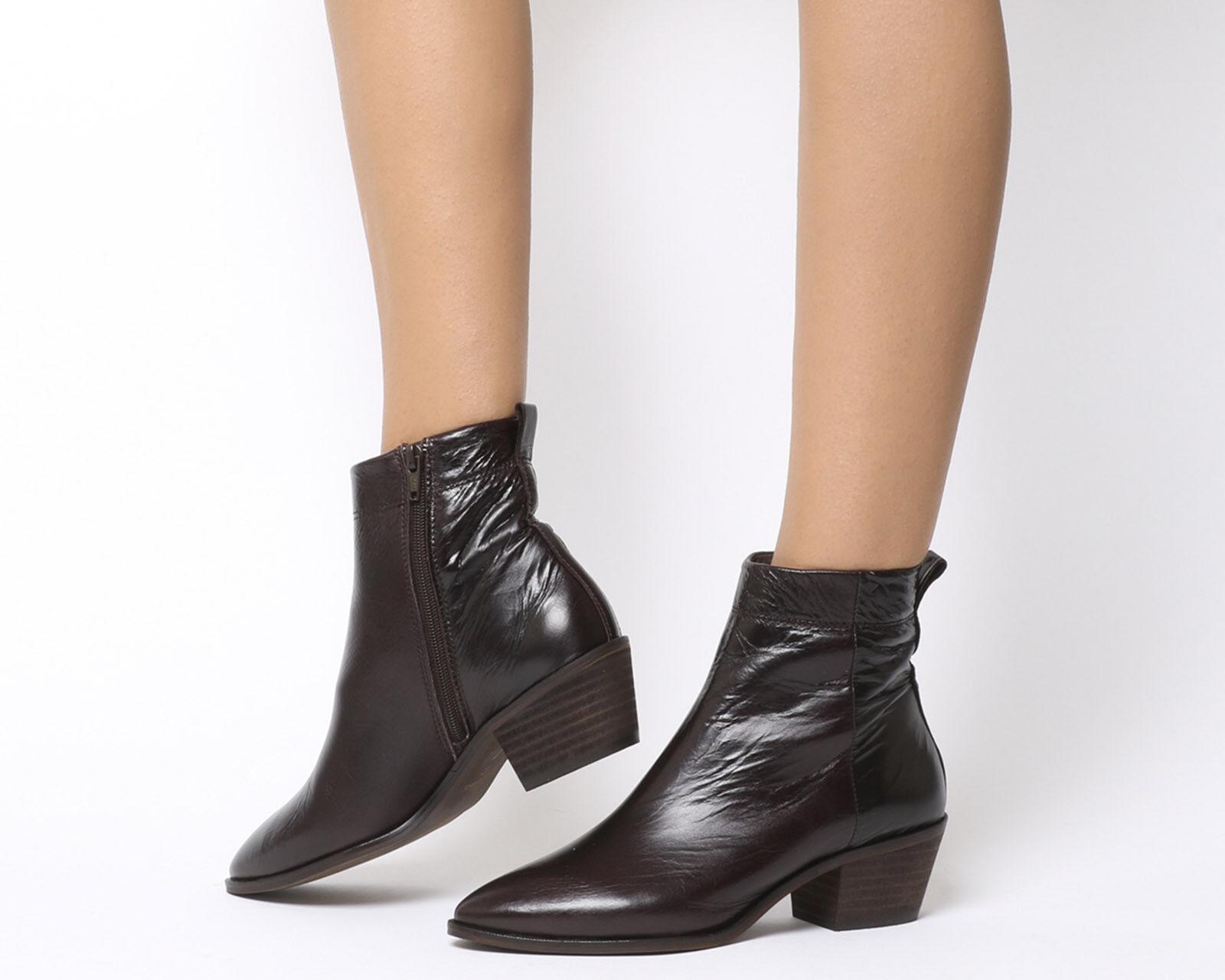 damen Office Gelb High Cut Stiefel Chocolate Leather Stiefel