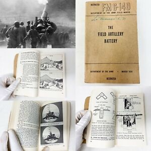 RESTRICTED-Korean-War-March-1950-Army-The-Field-Artillery-Battery-Book-Relic